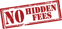 No Hidden Fees Stamp